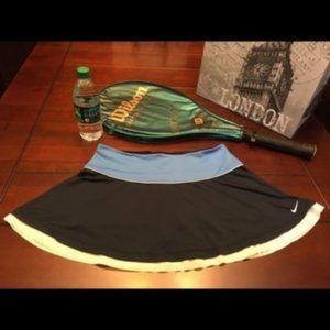 Nike Dri Fit Blue/White Workout Skirt, Medium